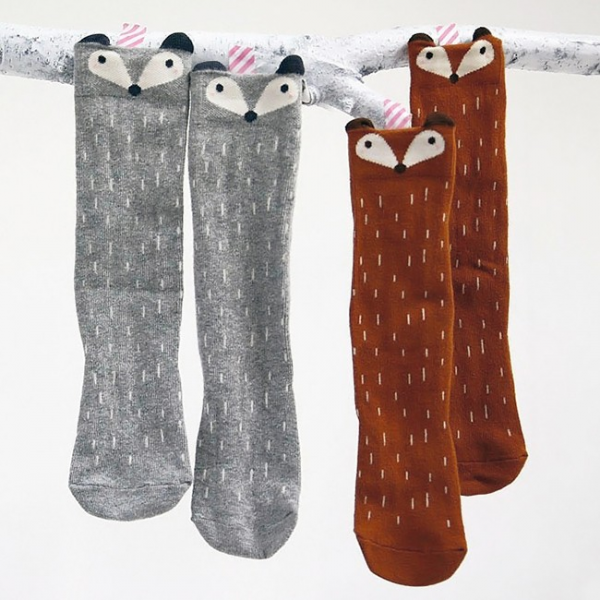 Fox / Raccoon socks