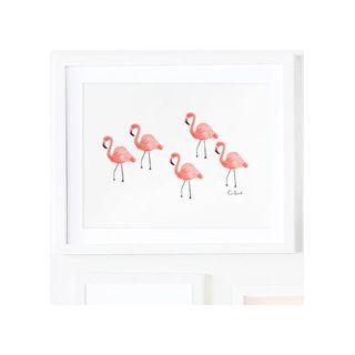 Flamingos print