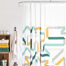 rideau de douche graphique couleurs pastel calliope. Black Bedroom Furniture Sets. Home Design Ideas