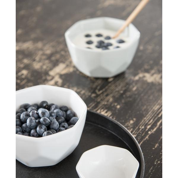 White geometry bowl by Madam Stoltz