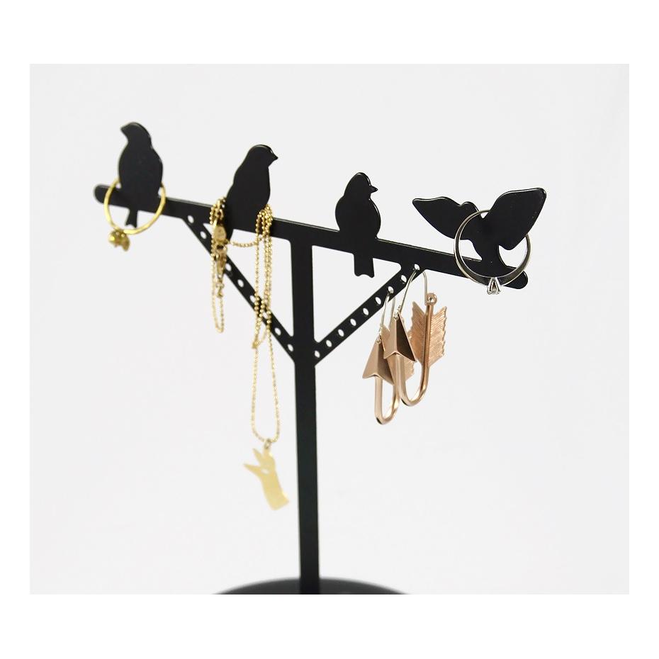 portant bijoux oiseaux en m tal par kikkerland. Black Bedroom Furniture Sets. Home Design Ideas