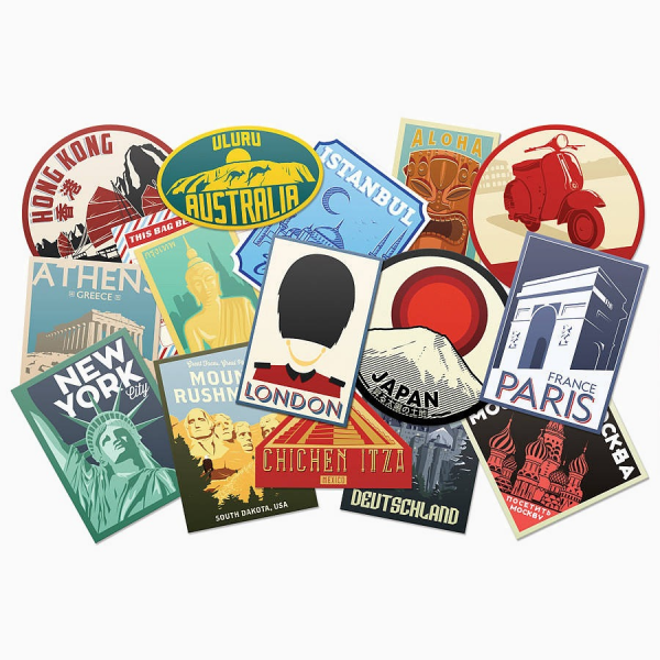 Luggage label stickers par Luckies
