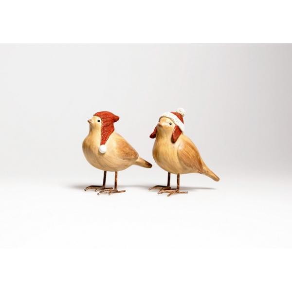 Décoration de Noël oiseau en bois