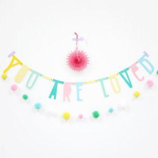 Letter banner - pastel