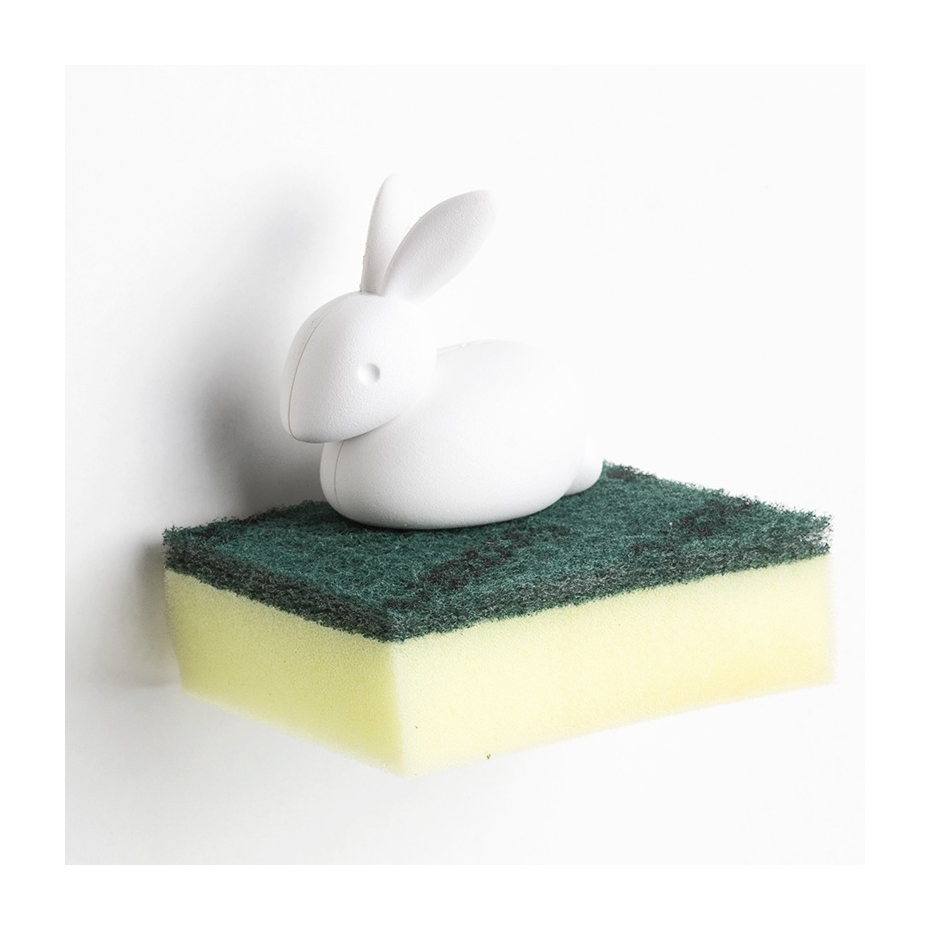 porte ponge lapin bunny sponge par qualy. Black Bedroom Furniture Sets. Home Design Ideas