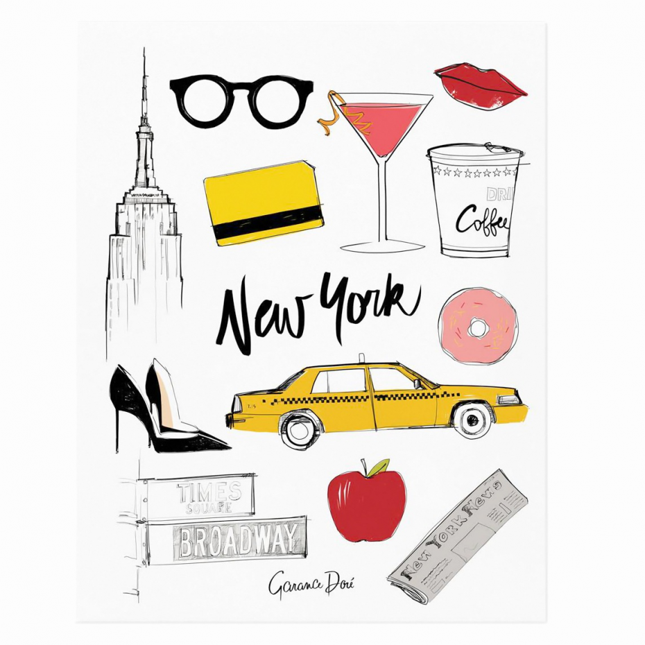 affiche poster new york city par garance dor pour rifle paper. Black Bedroom Furniture Sets. Home Design Ideas