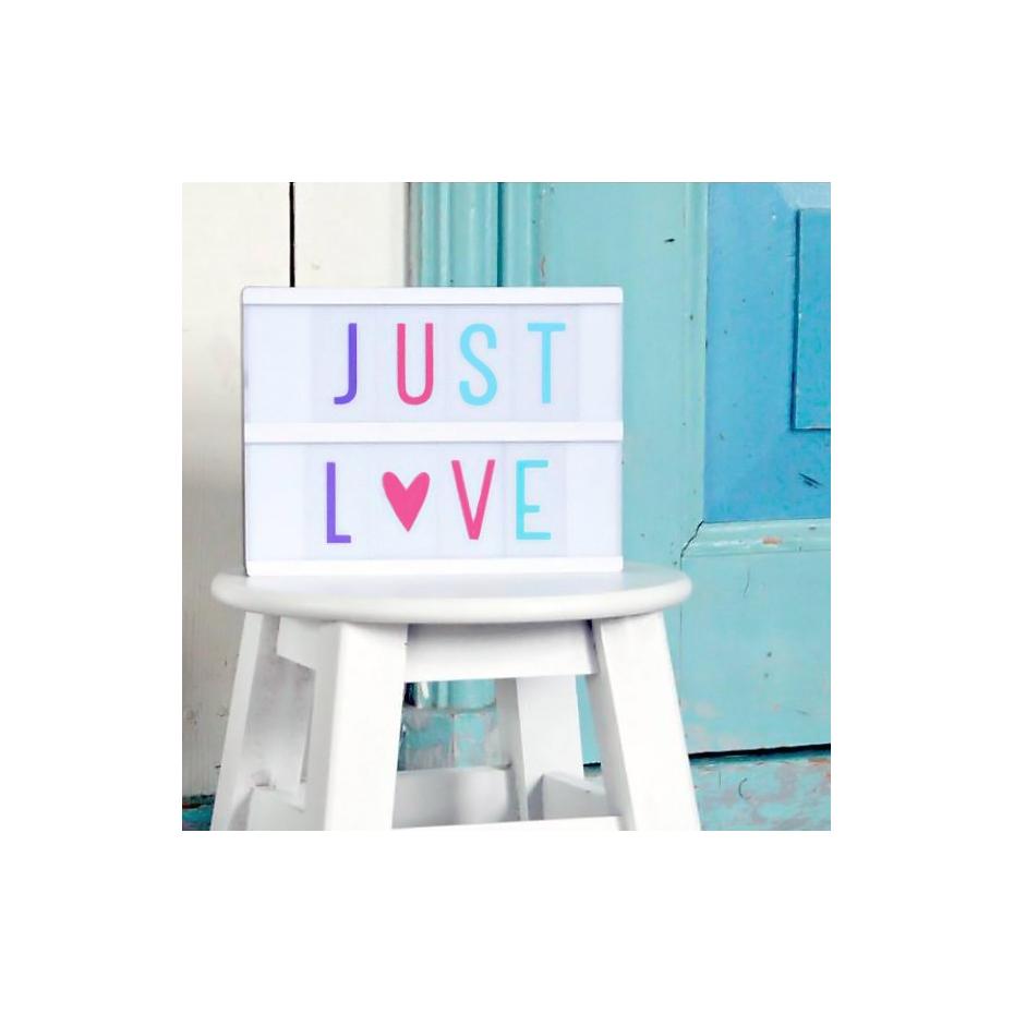 set de lettres couleur pastel pour lightbox. Black Bedroom Furniture Sets. Home Design Ideas