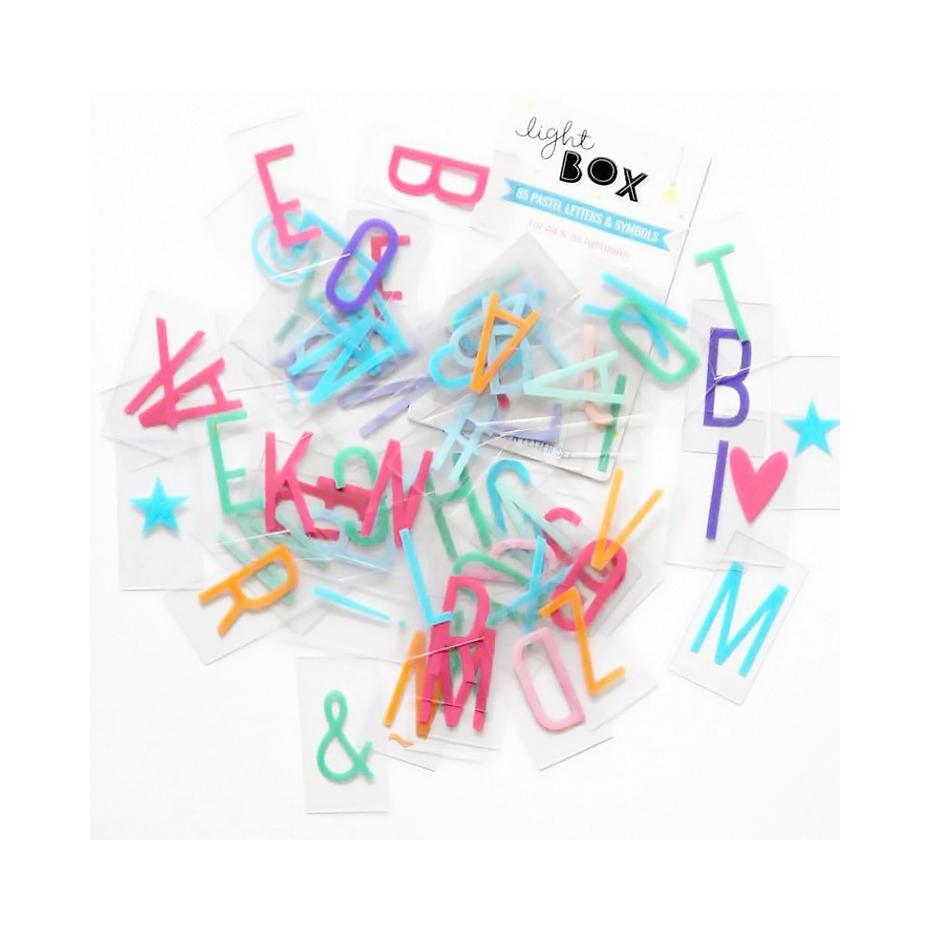 Set de lettres couleur pastel pour lightbox - Lettre pour lightbox ...