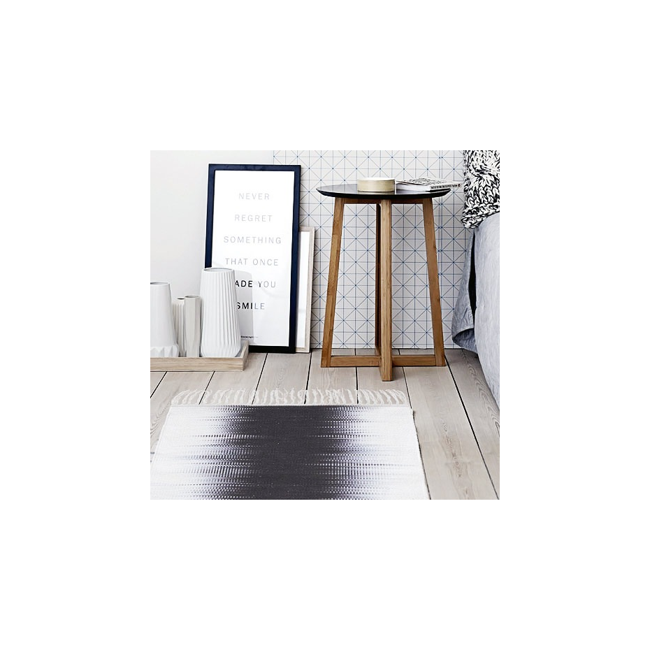 tapis en coton motif graphique electric par house doctor. Black Bedroom Furniture Sets. Home Design Ideas
