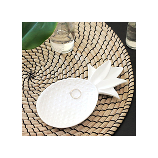 Pineapple white trinket dish