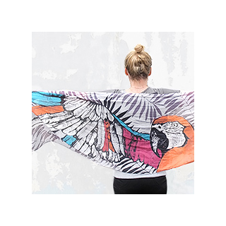 Wild scarf - parrot