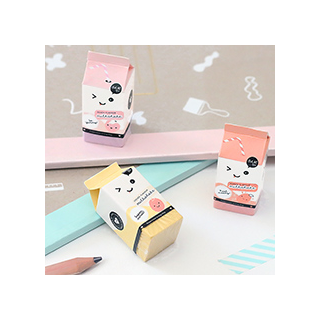 Milk box erasers