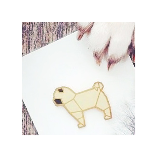 Origami pug
