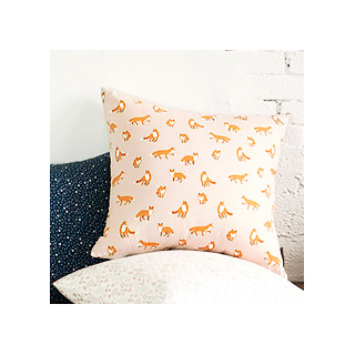 Foxes cushion cover