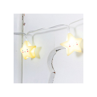 Yellow stars string lights