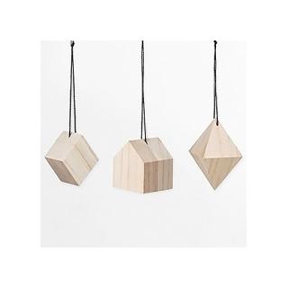 Wooden 3D ornament