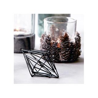Black 3D ornament