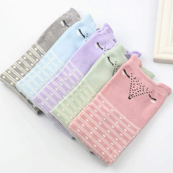 Pastel foxes socks