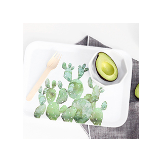 Watercolor cactus tray