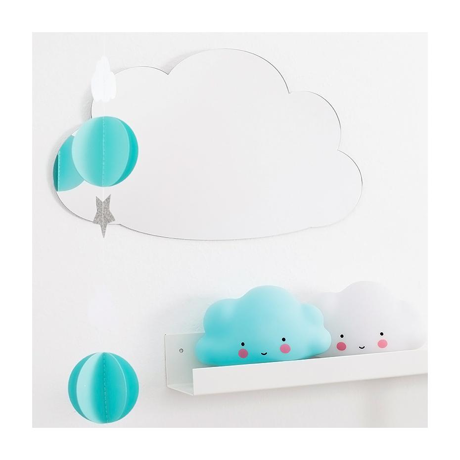 Miroir en forme de nuage par a little lovely company for Miroir nuage