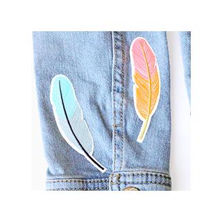 Patchs brodés - plumes