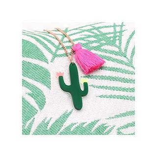 Cactus pompon necklace