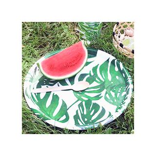 Watercolor monstera tray