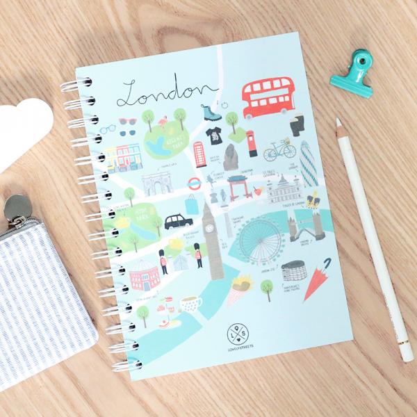 Lovely streets - London notebook