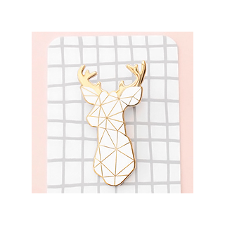 Geometric white deer
