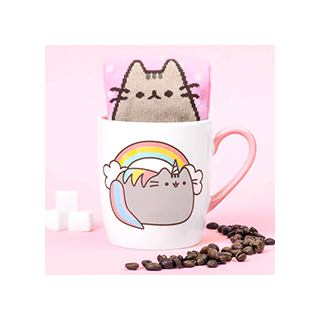 Pusheen - sock in a mug (licorne)