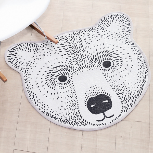 tapis en forme de t 234 te d ours par bloomingville