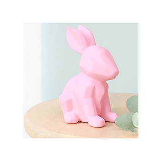 Origami bunny night - rose