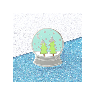 Snow globe pin's