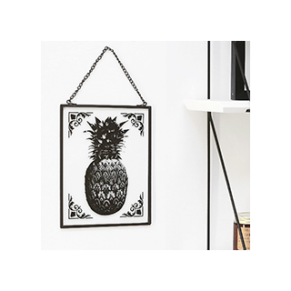 Vintage metal frame - pineapple