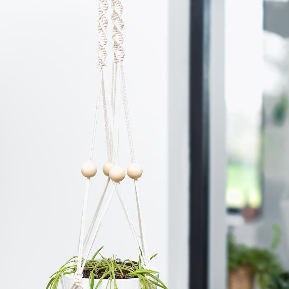 suspension en macram porte plante made in france. Black Bedroom Furniture Sets. Home Design Ideas
