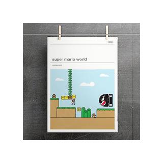 Affiche jeux vidéo - Super Mario World