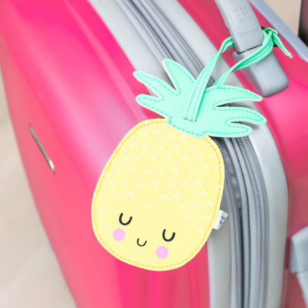 Étiquette de bagage - ananas