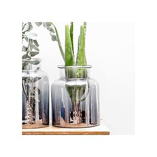Grand vase en verre fumé Kamalika