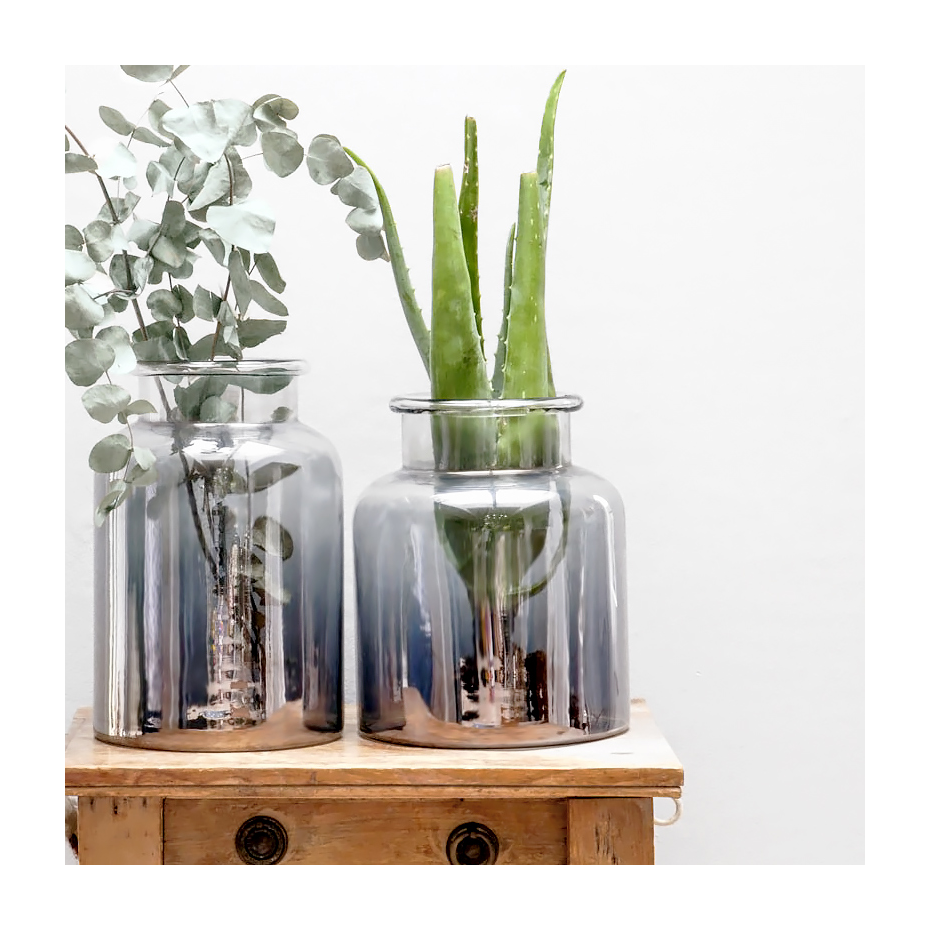 grand vase en verre kamalika par dassie artisan. Black Bedroom Furniture Sets. Home Design Ideas