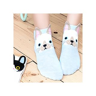 Socquettes tête de chat