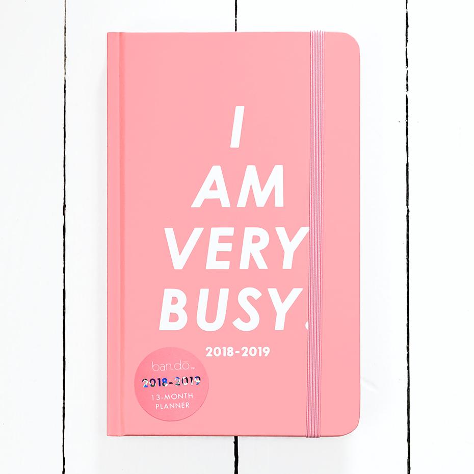 Agenda 2018 2019 I Am Very Busy Par Bando