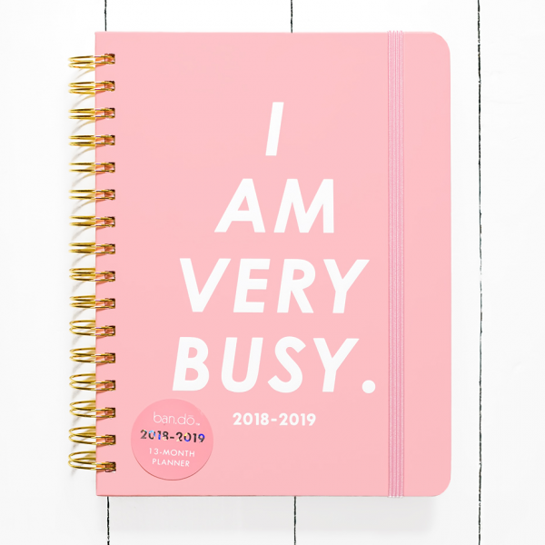 Agenda ban.do - I am very busy 2018-2019 (medium)