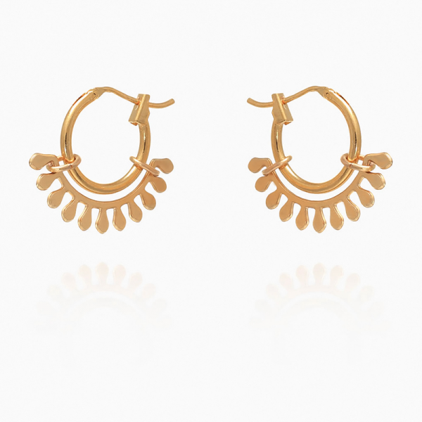 Boucles d'oreilles Esmeralda hoop