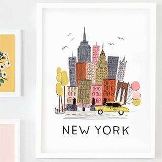 City print - New York