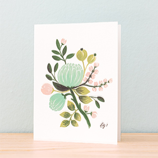 Carte Rifle Paper - Blue floral (fig.1)