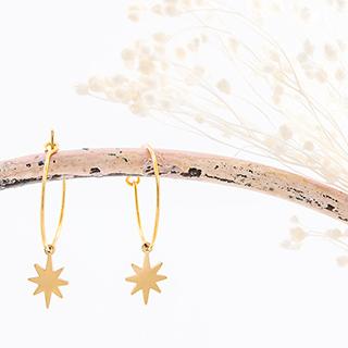 Boucles d'oreilles Étoile polaire