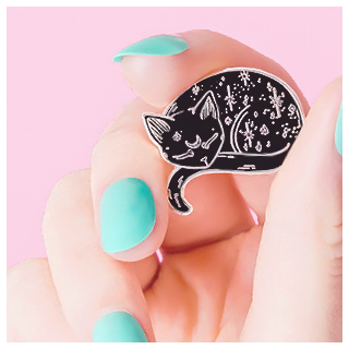 Mystical cat pin's