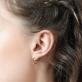Boucles d'oreilles Open ray