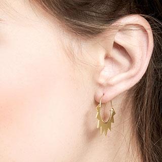 Boucles d'oreilles Ray hoop