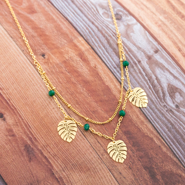 Collier monstera deliciosa